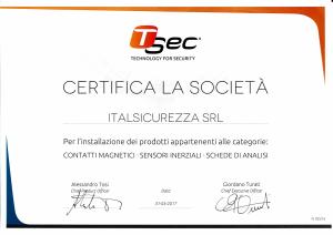 Certificazione T-SEC