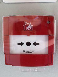 Pulsante antincendio Notifier del Teatro Nuovo di Verona